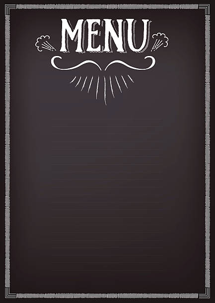 Menu clip art vector images illustrations istock for Artistic cuisine menu