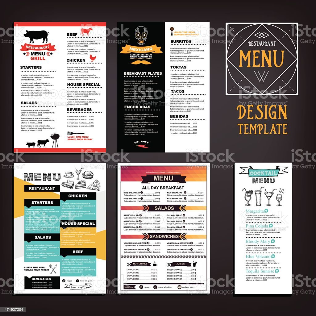 Food menu vector art illustration