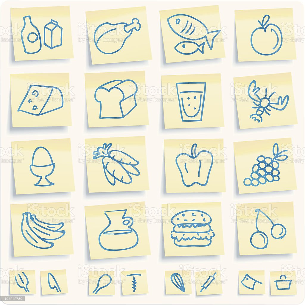 food notes royalty-free stock vector art