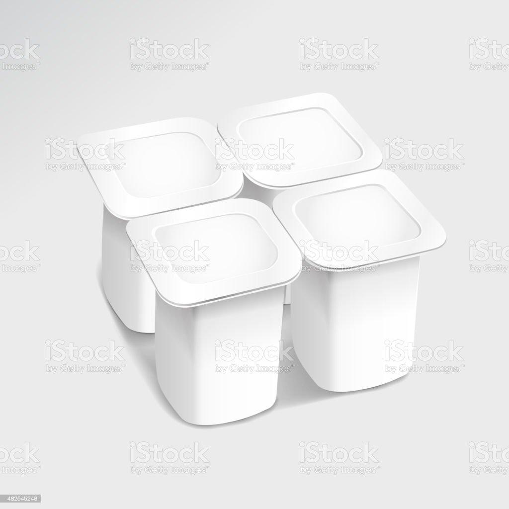 food plastic container vector art illustration