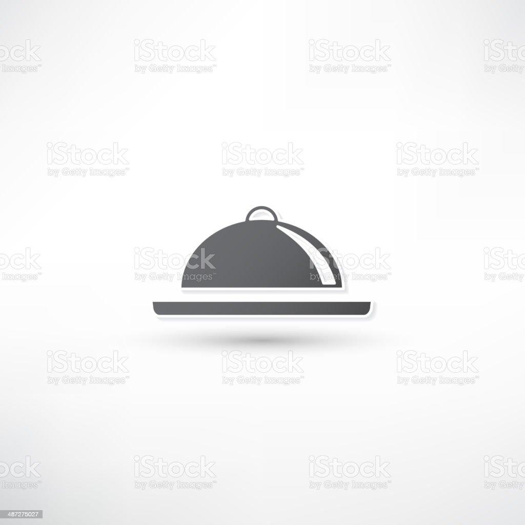 Food Platter Icon vector art illustration