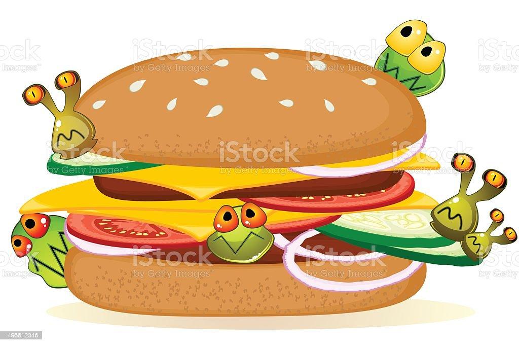 Food poisoning vector art illustration
