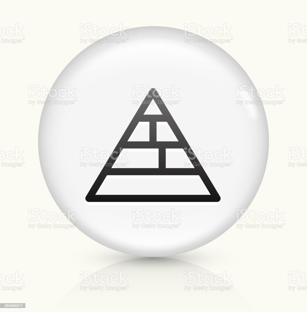 Food Pyramid icon on white round vector button vector art illustration