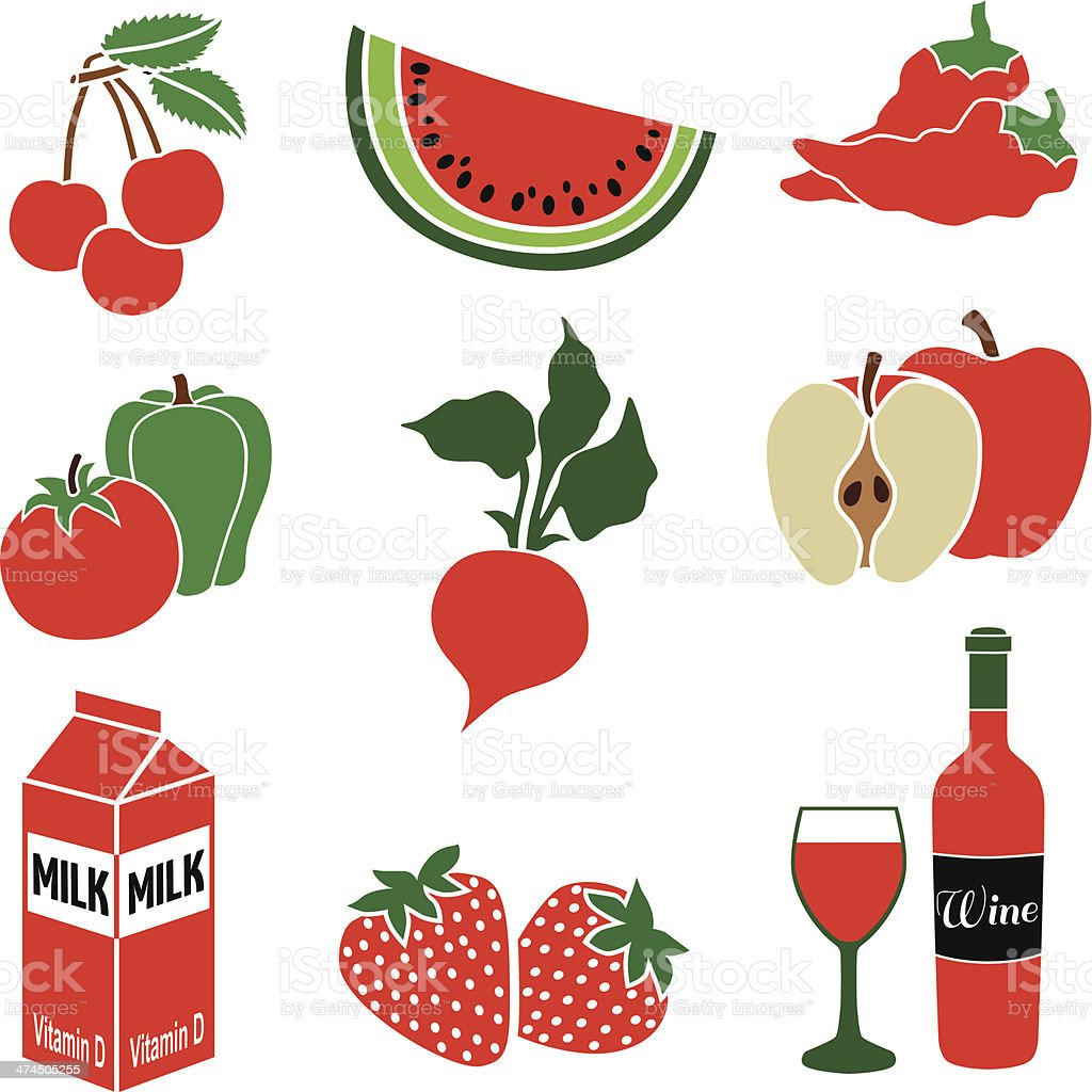 food red theme royalty-free stock vector art