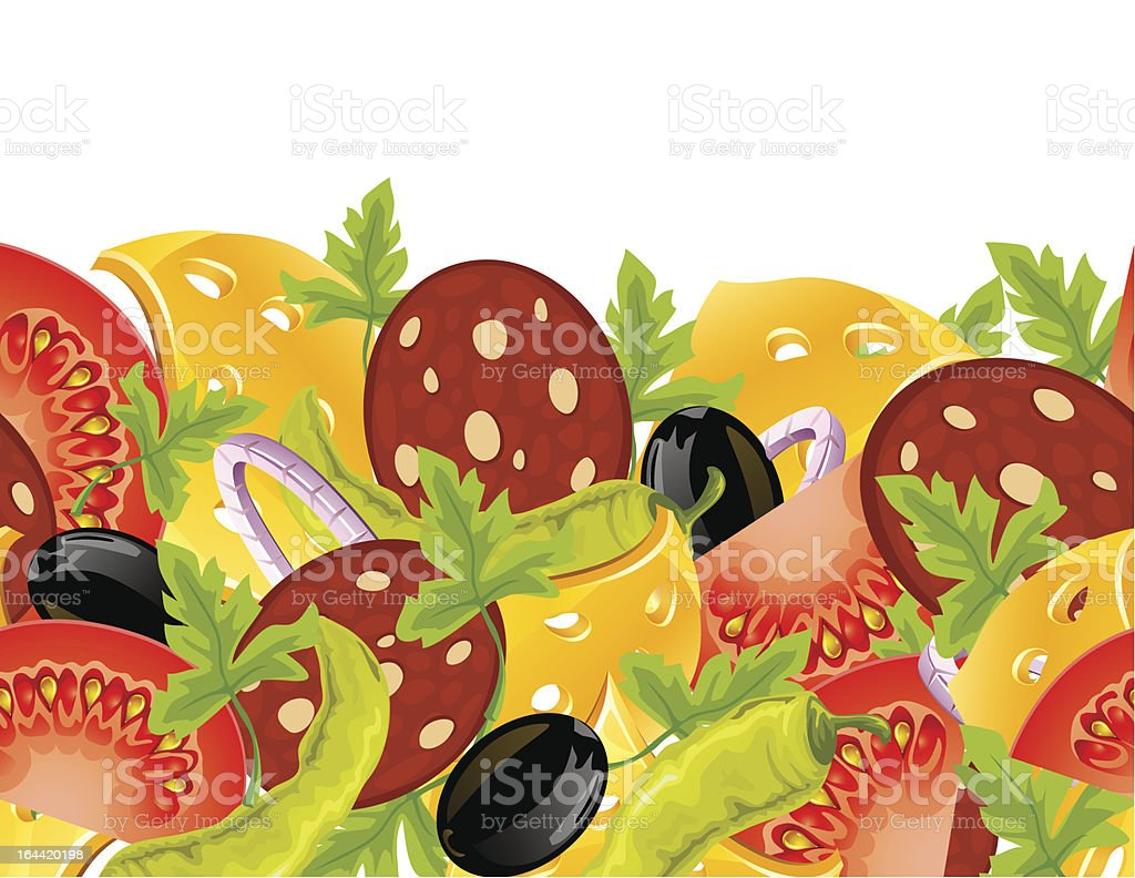 food seamless background royalty-free stock vector art
