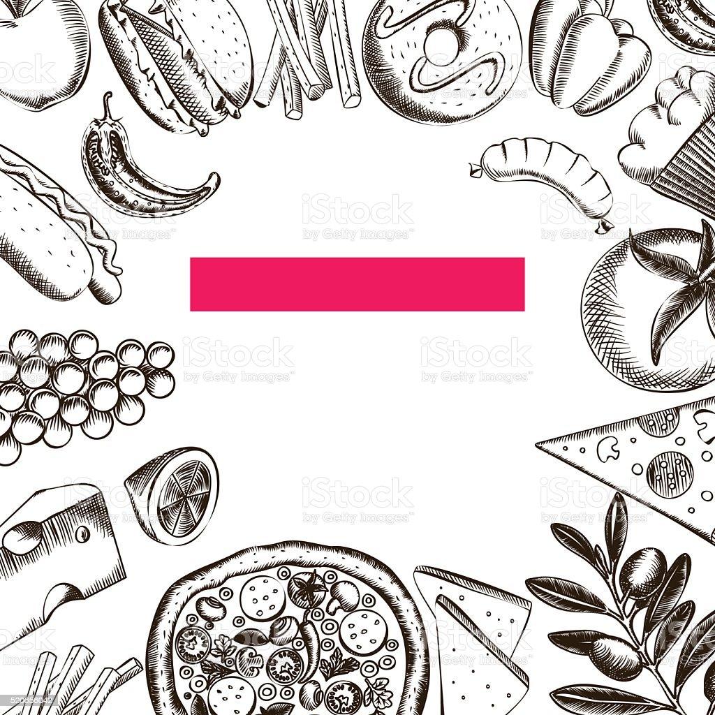 Food Seamless Pattern 2 vector art illustration