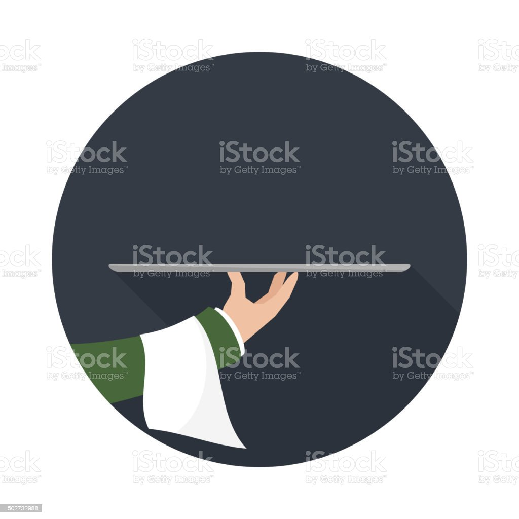Food Serving empty tray platter. vector art illustration