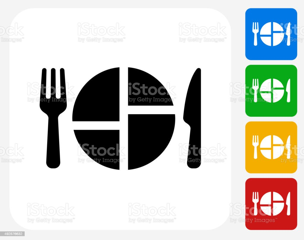 Food Serving Icon Flat Graphic Design vector art illustration