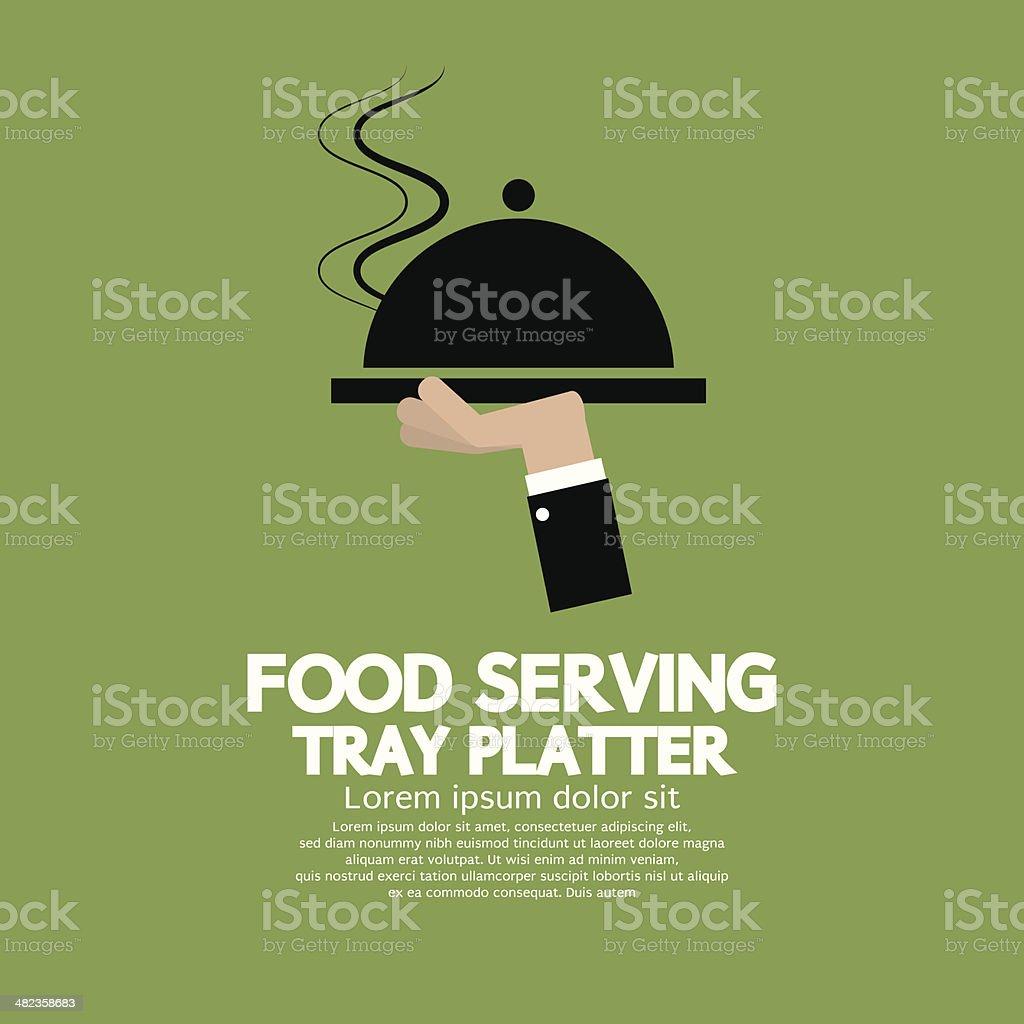 Food Serving Tray Platter vector art illustration