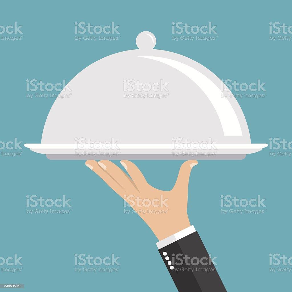 Food serving tray vector art illustration
