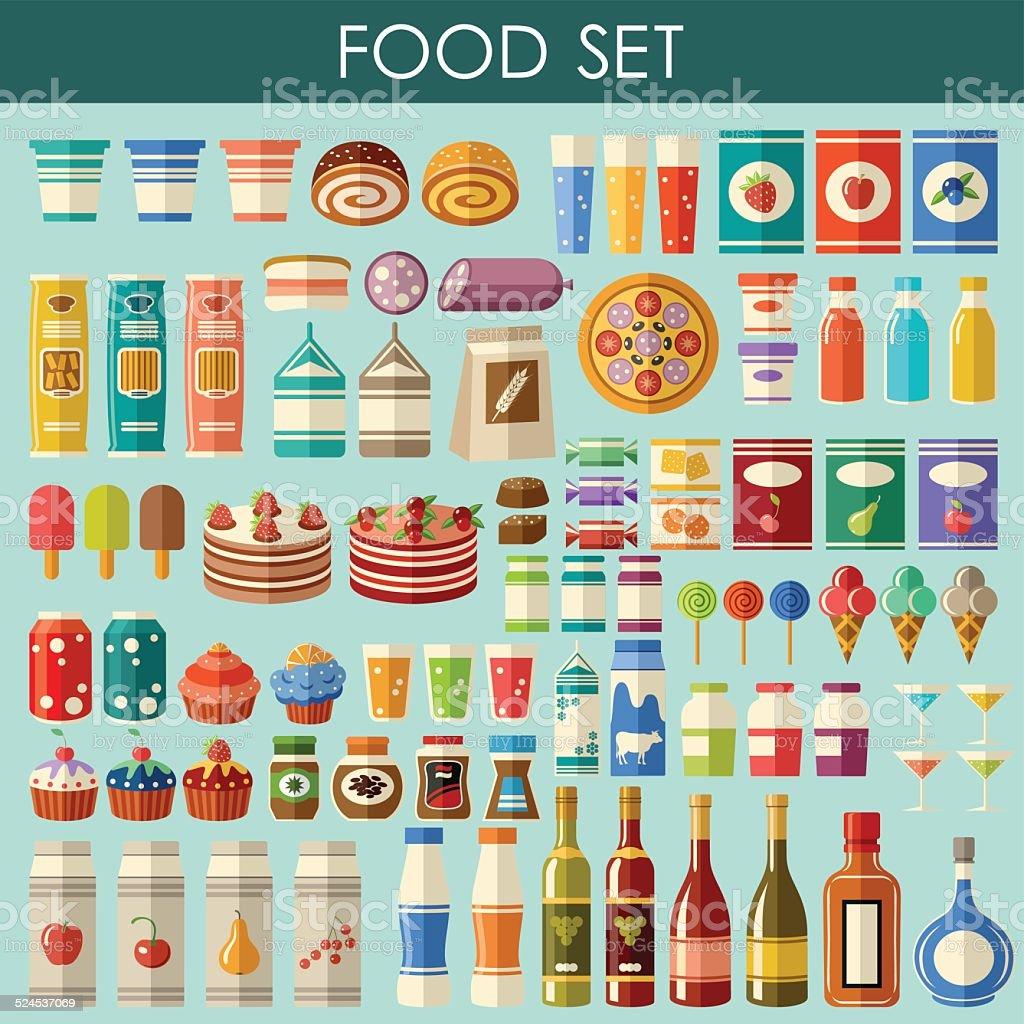Food set. vector art illustration