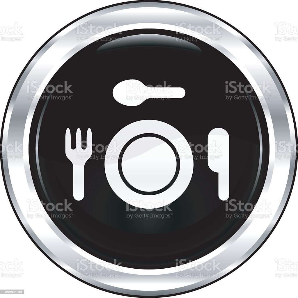 Food | The Blackest Icon Series royalty-free stock vector art