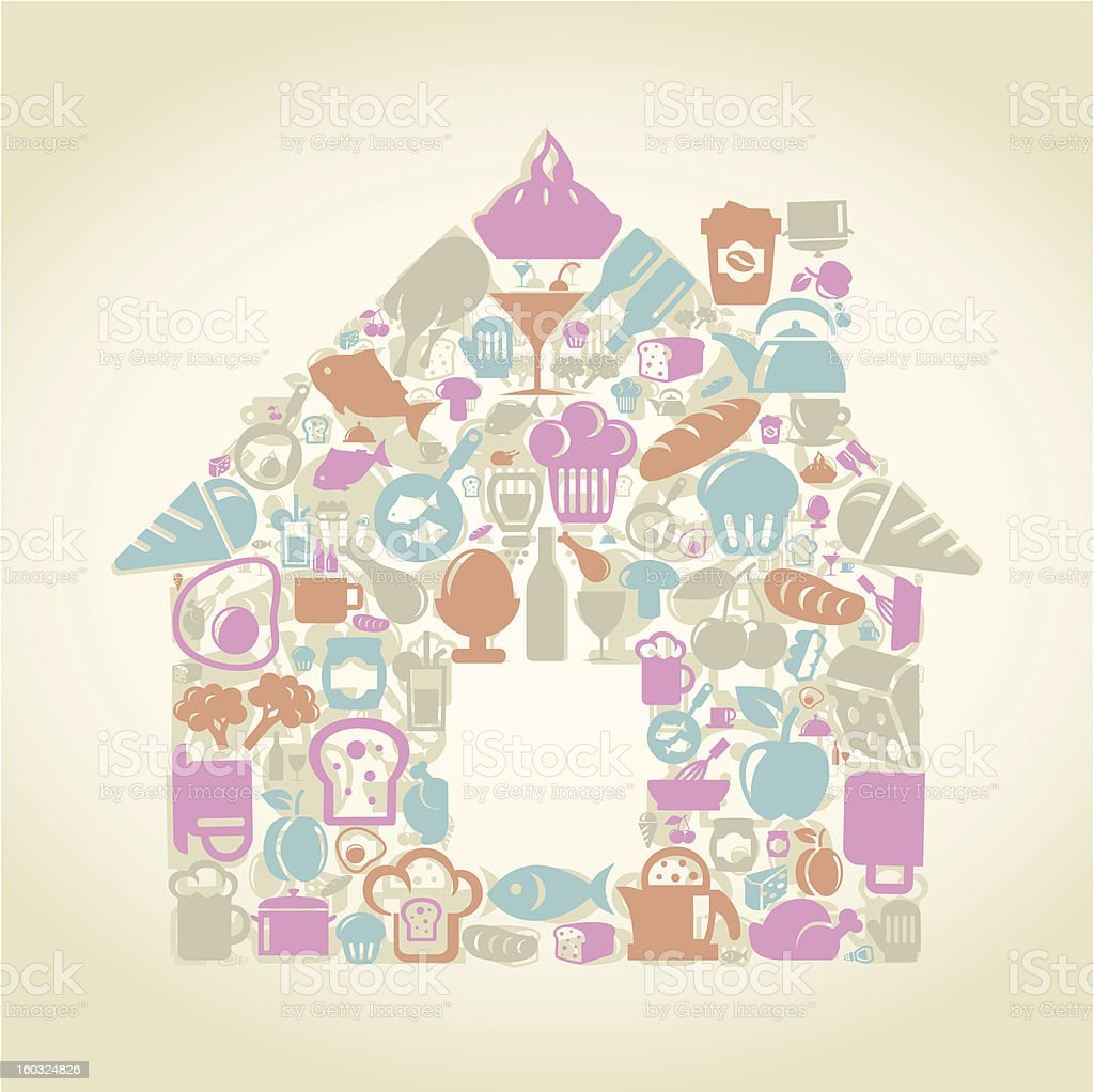 Food the house royalty-free stock vector art