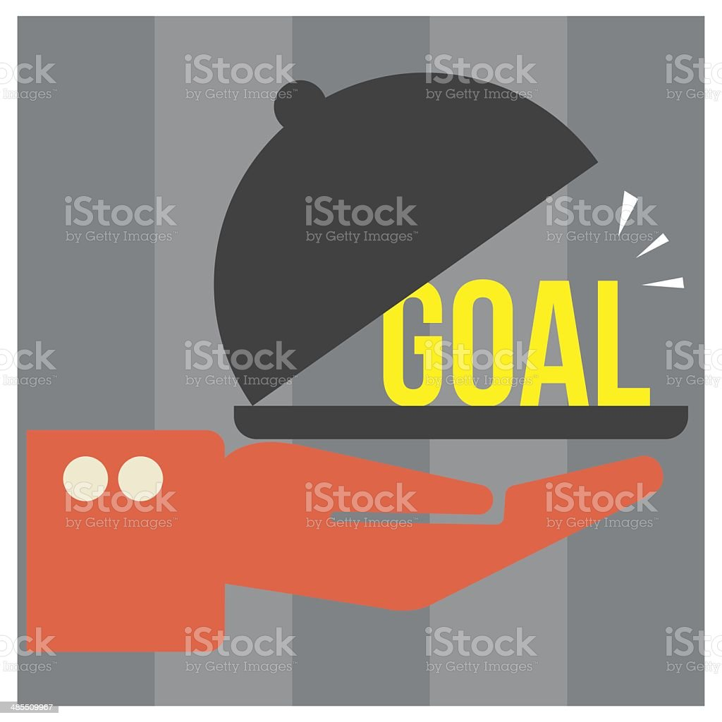 Food tray with GOAL, vector format royalty-free stock vector art