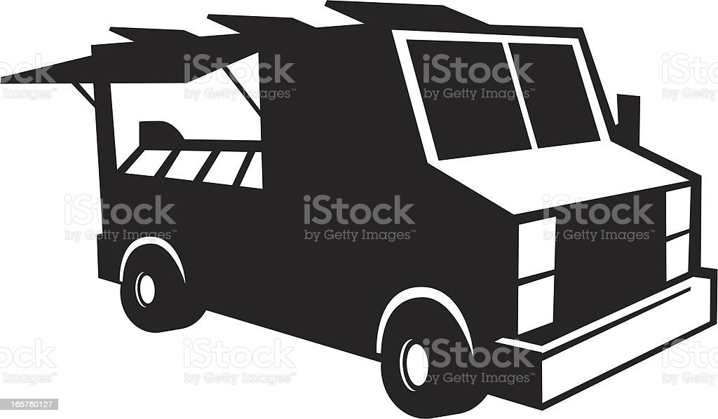 food truck graphic vector art illustration