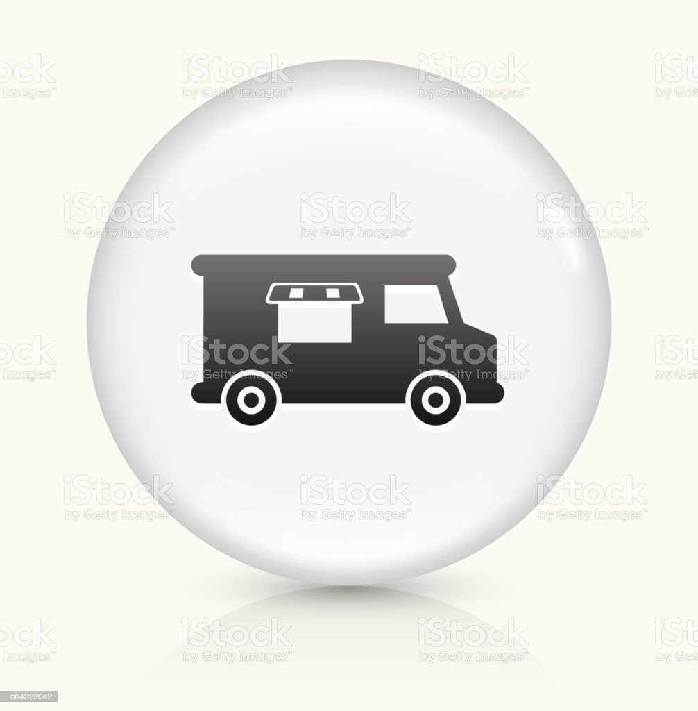Food Truck icon on white round vector button vector art illustration