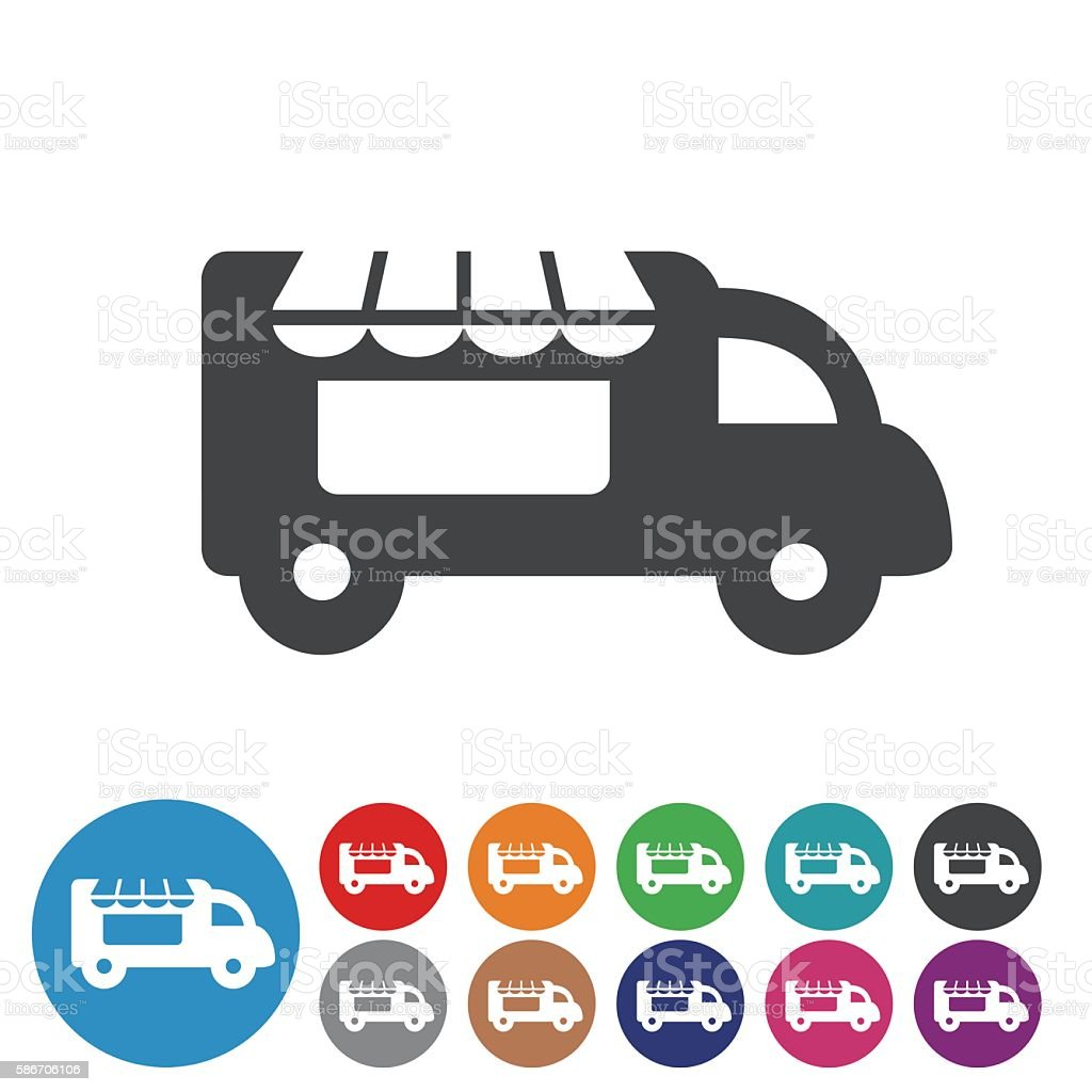 Food Truck Icons - Graphic Icon Series vector art illustration