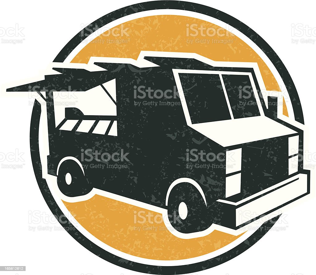food truck logo royalty-free stock vector art