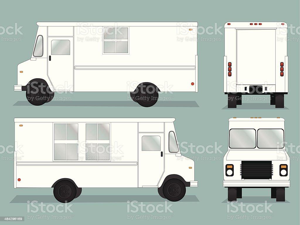 Food Truck Template vector art illustration