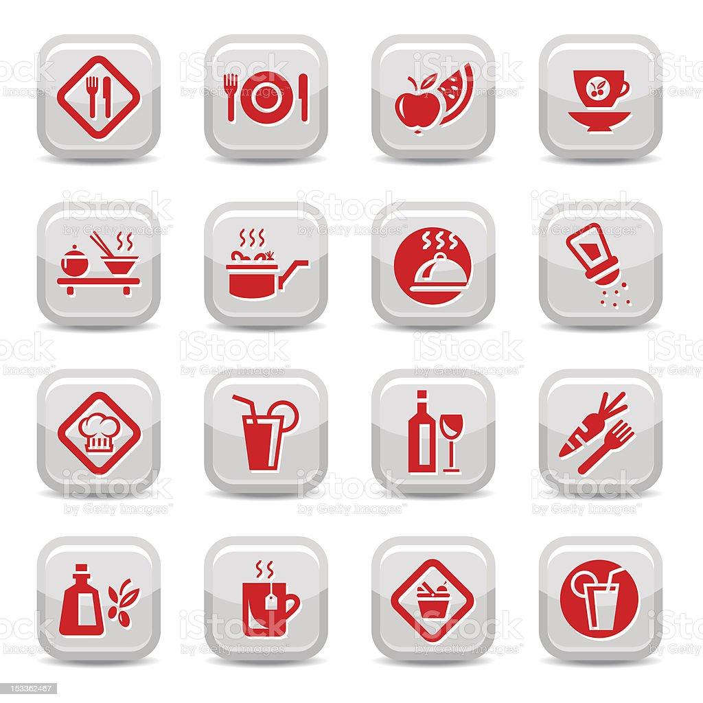 food type icon set royalty-free stock vector art