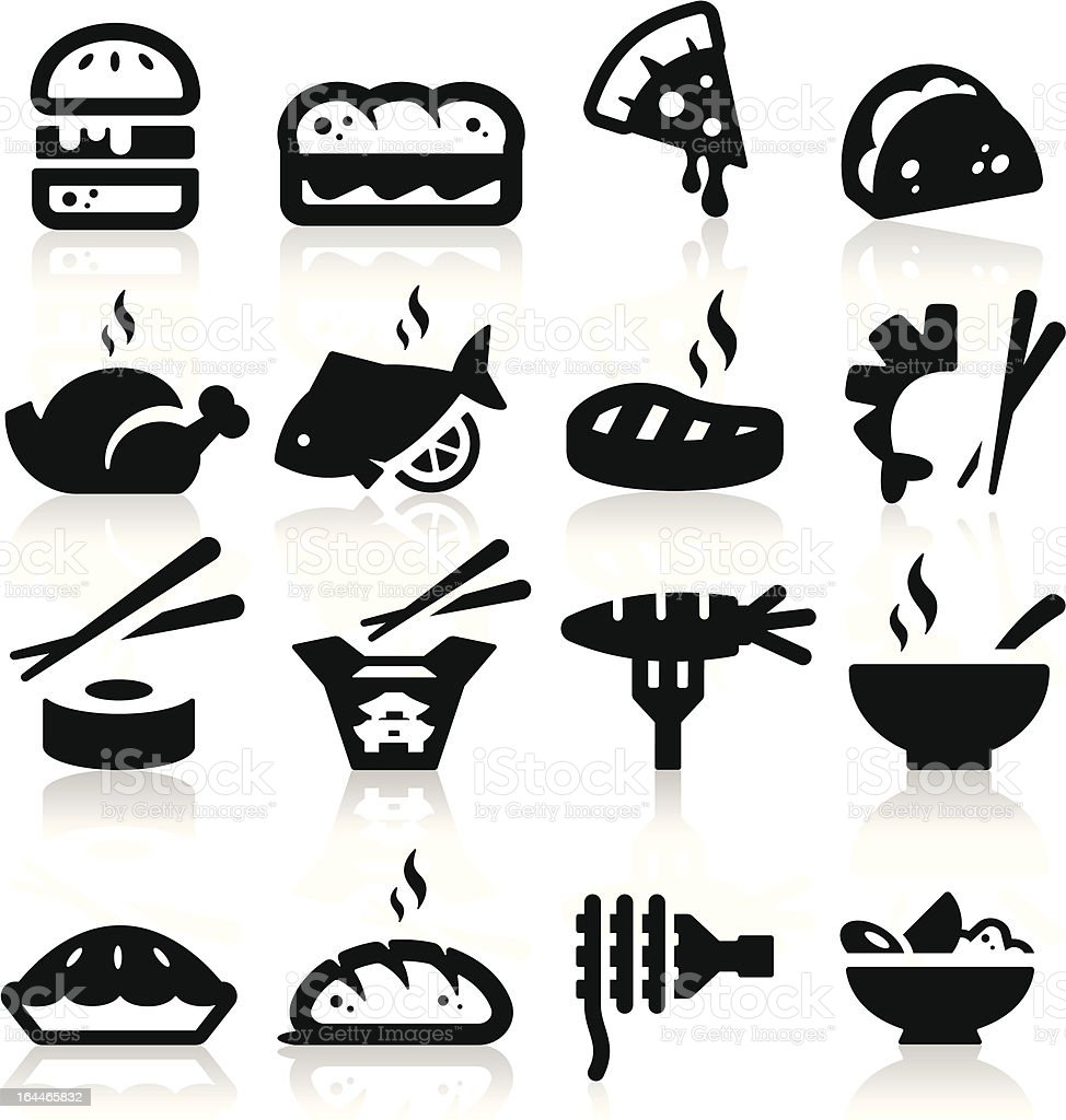 Food  type Icons vector art illustration