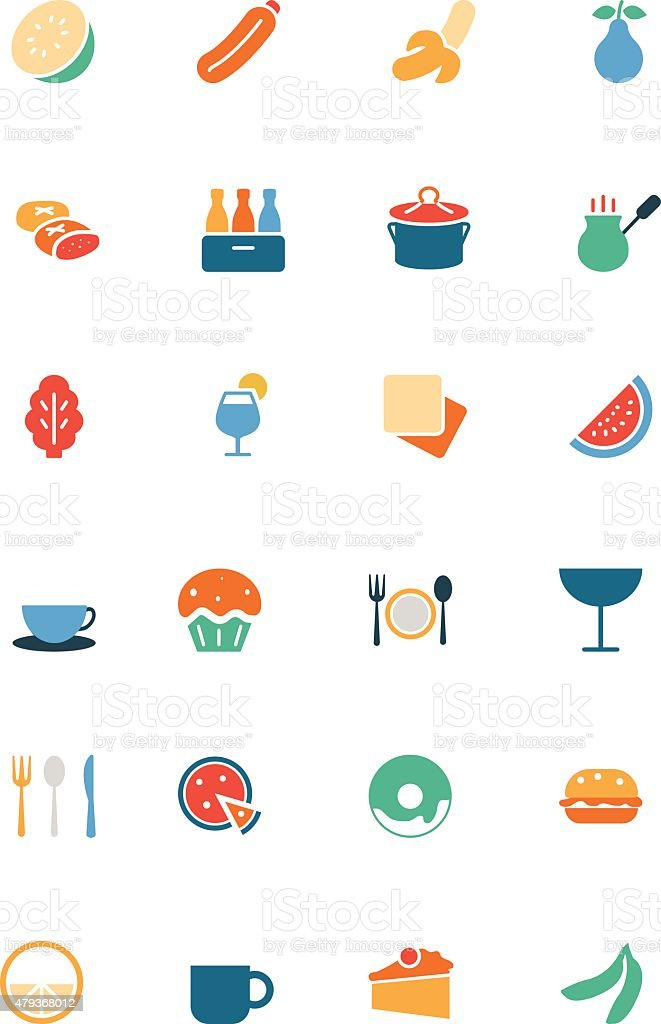 Food Vector Colored Icons 13 vector art illustration