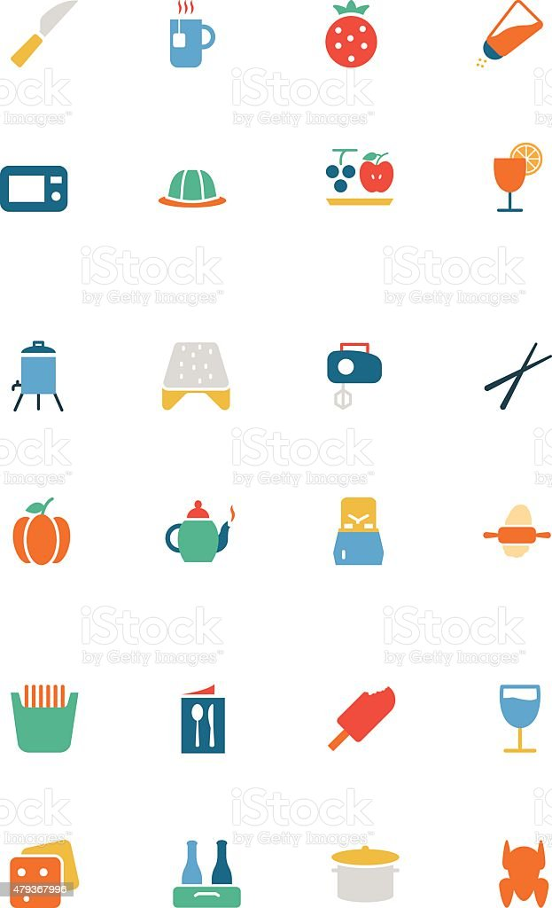 Food Vector Colored Icons 17 vector art illustration