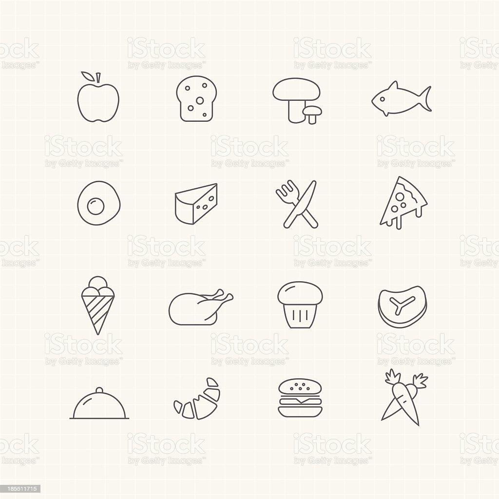 Food vector thin line symbol icon vector art illustration