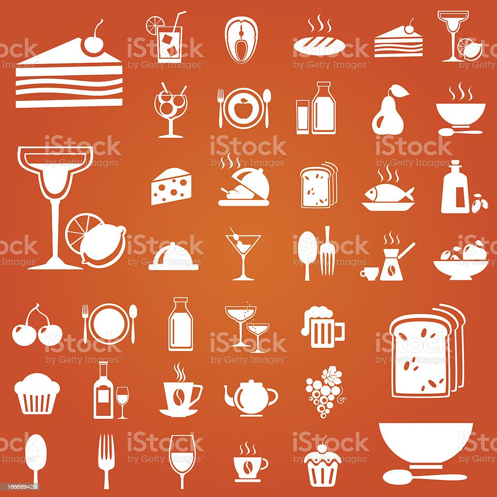 Foodicons royalty-free stock vector art