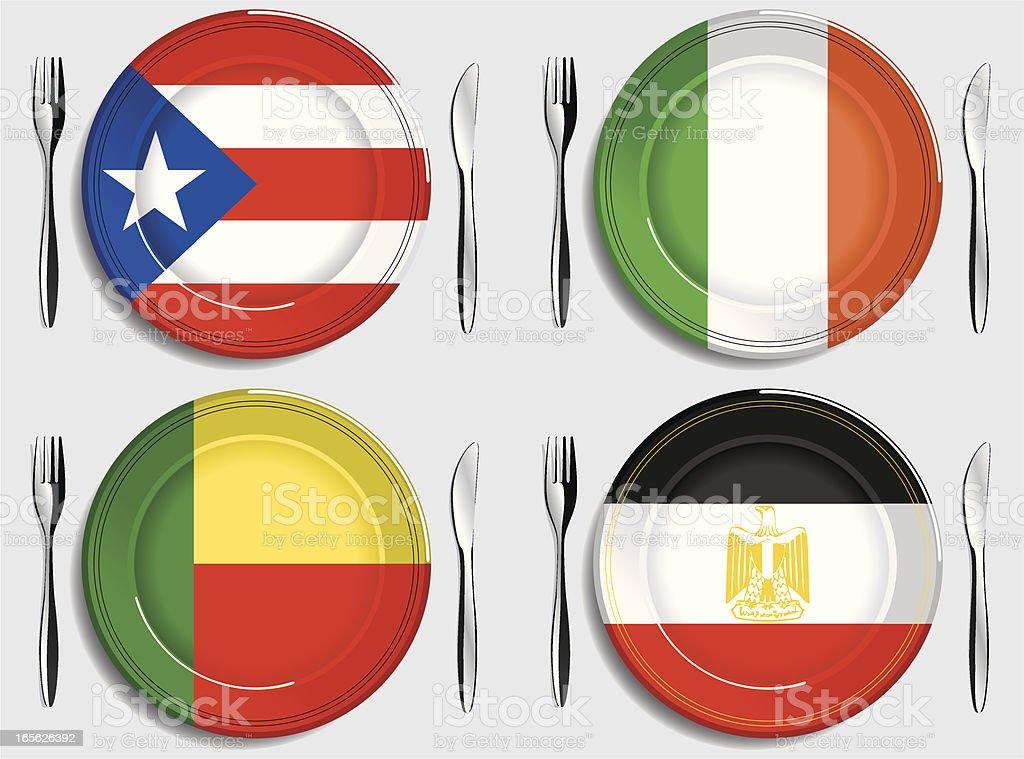 Food-Puerto Rico-Ireland-Ben?n-Egipto royalty-free stock vector art
