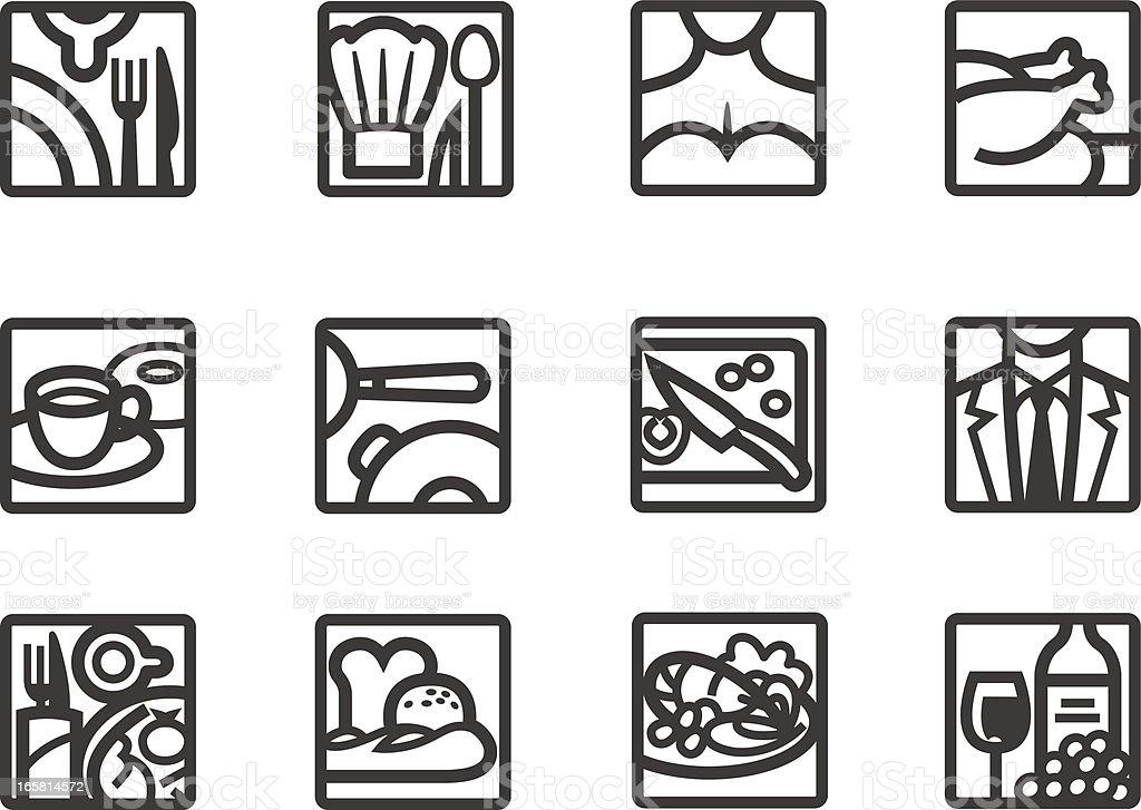 Food-Restaurant icons vector art illustration