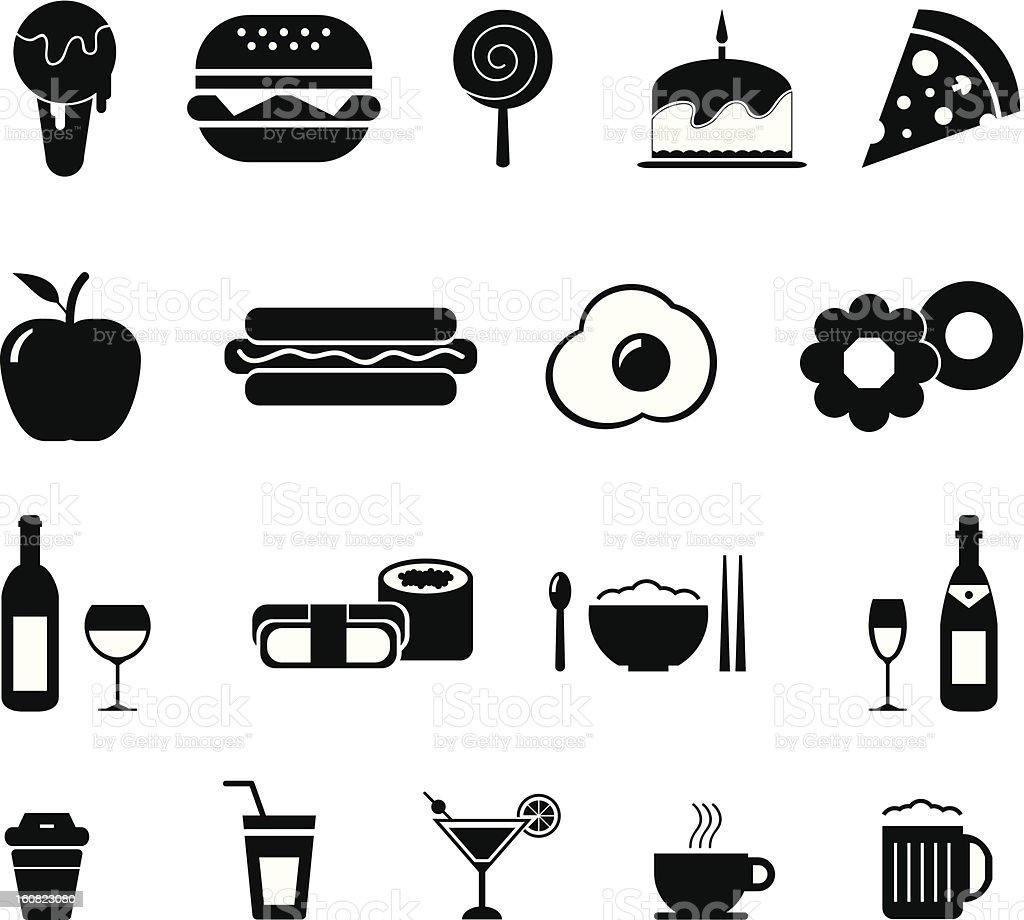Foods and Drinks Icon royalty-free stock vector art