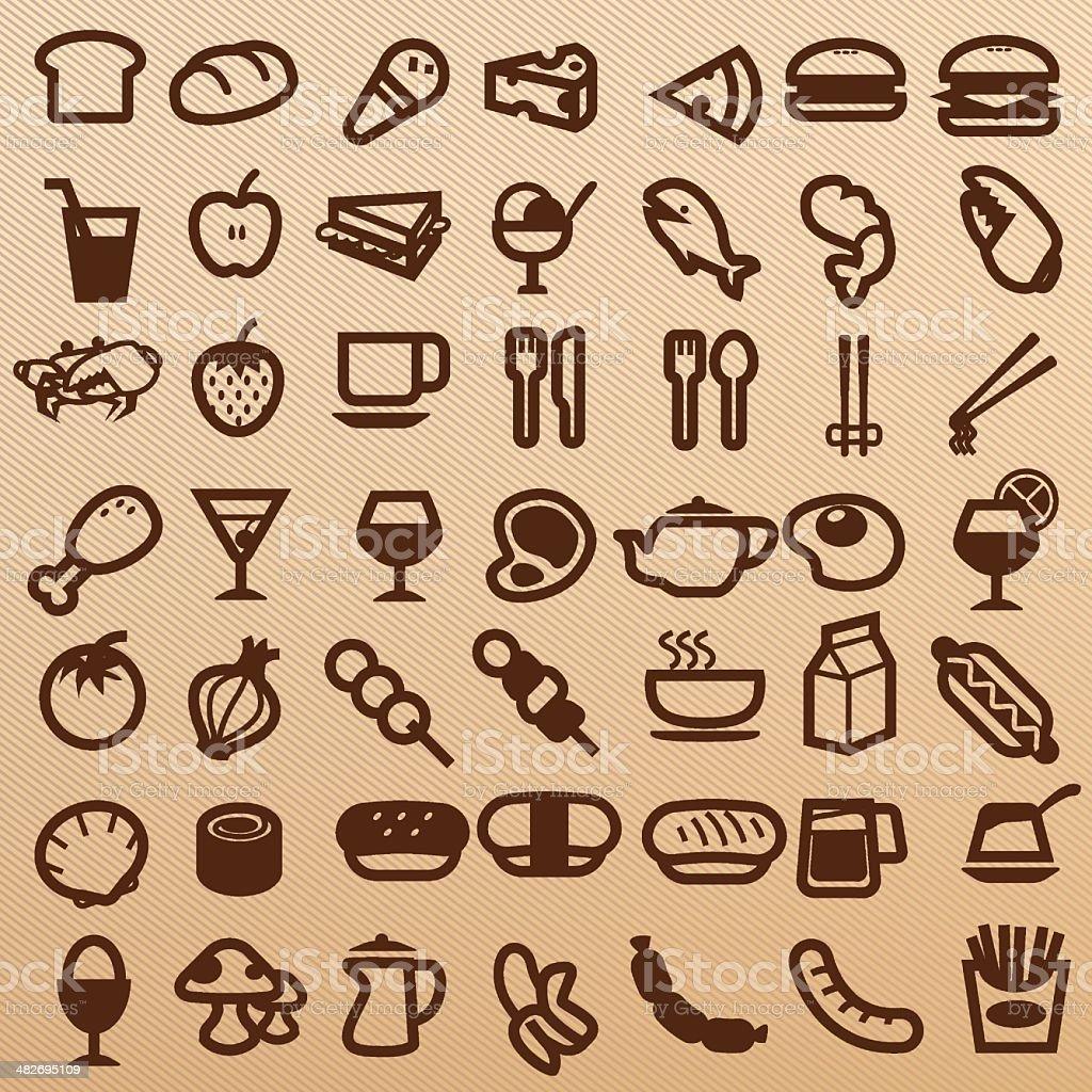 Foods symbol royalty-free stock vector art