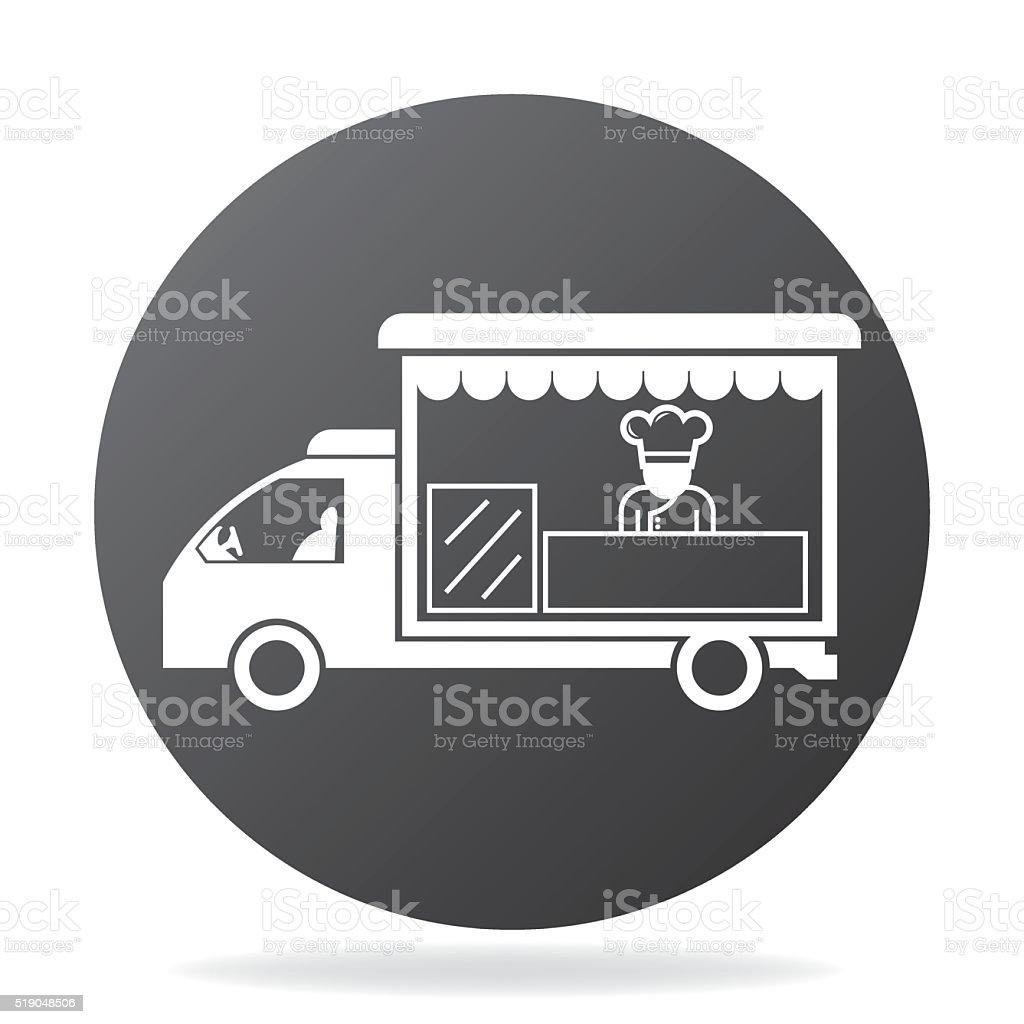 foods truck vector art illustration