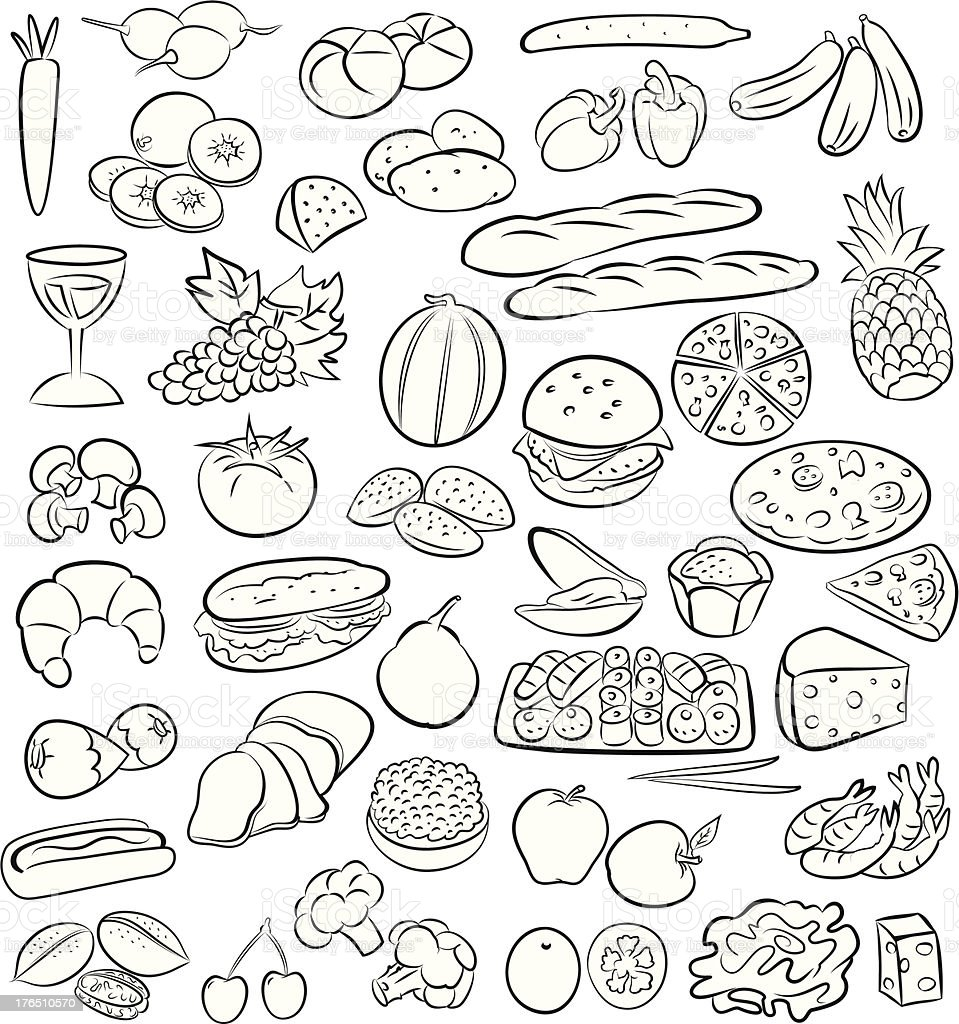 foods royalty-free stock vector art