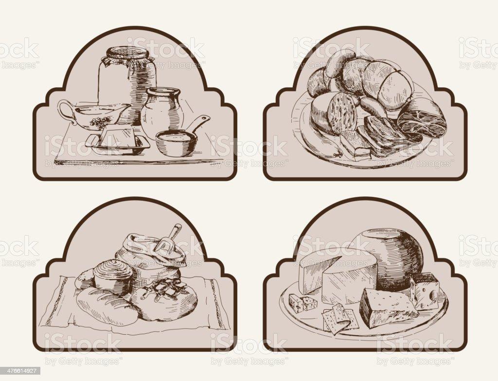 foodstuffs royalty-free stock vector art