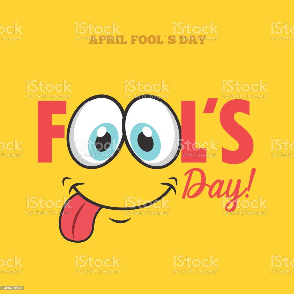fools day vector art illustration