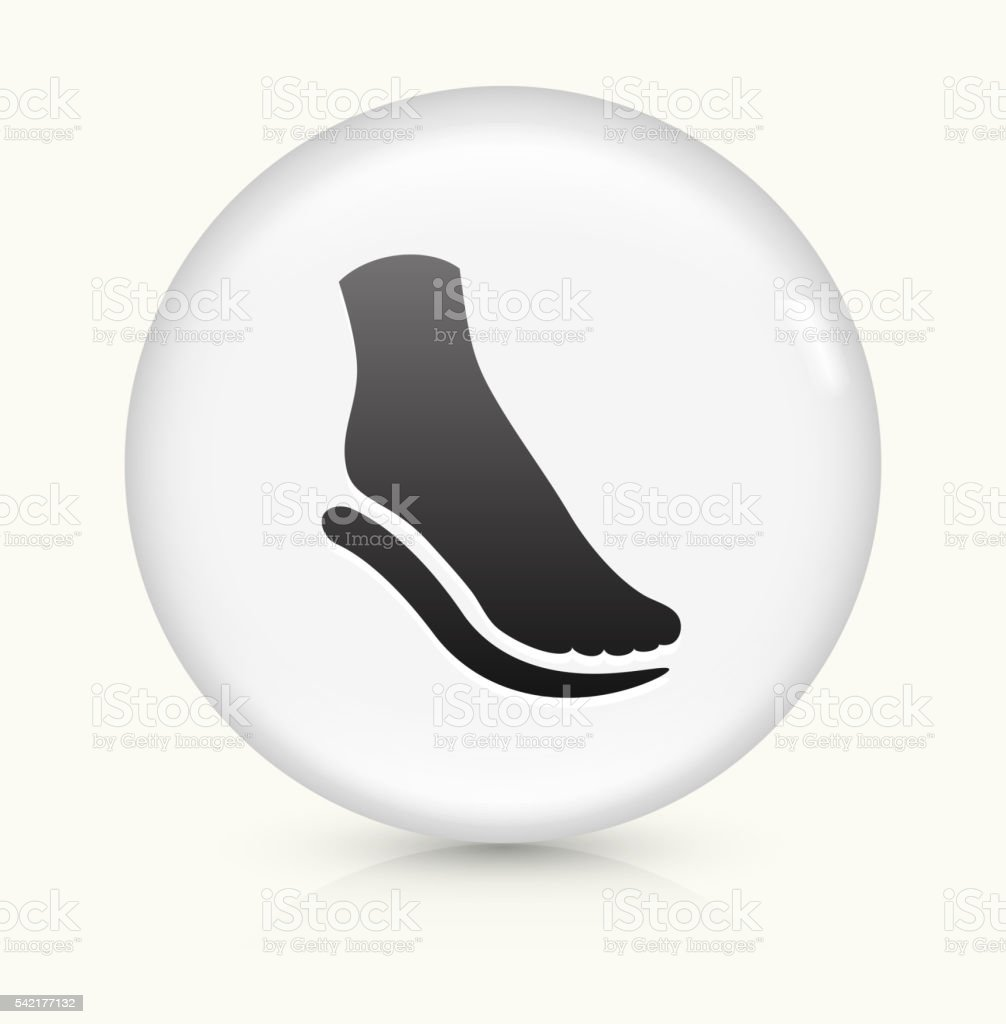 Foot and Padding icon on white round vector button vector art illustration