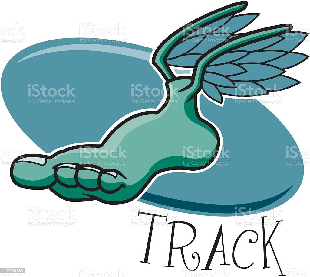 Foot With Wings royalty-free stock vector art