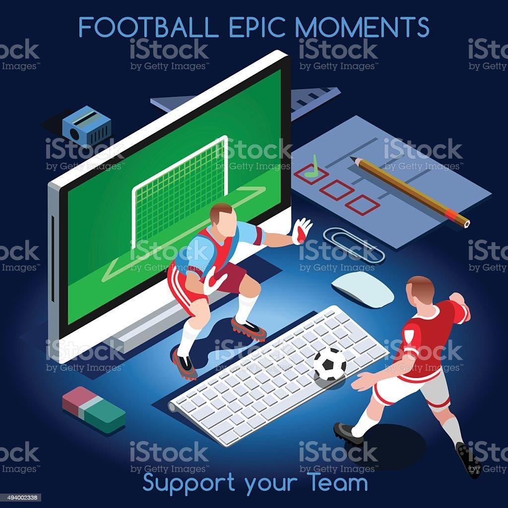 Football 01 People Isometric vector art illustration