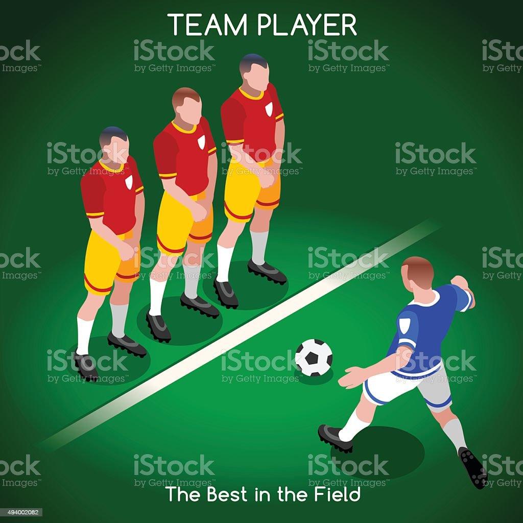 Football 02 People Isometric vector art illustration