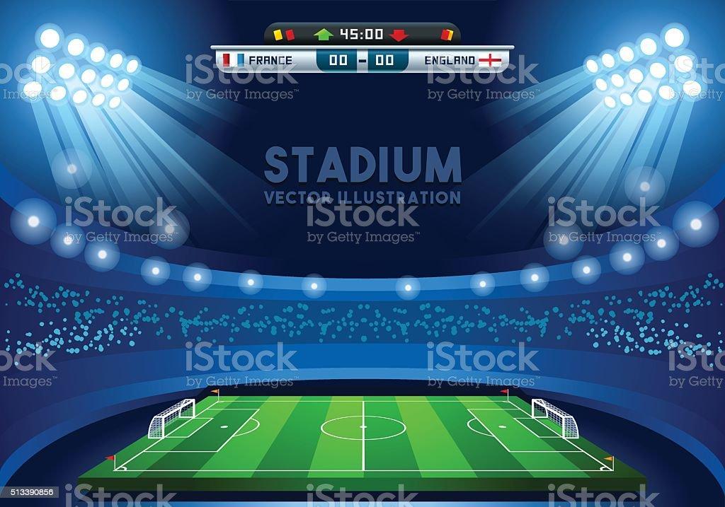 Football 02 Sport Background vector art illustration