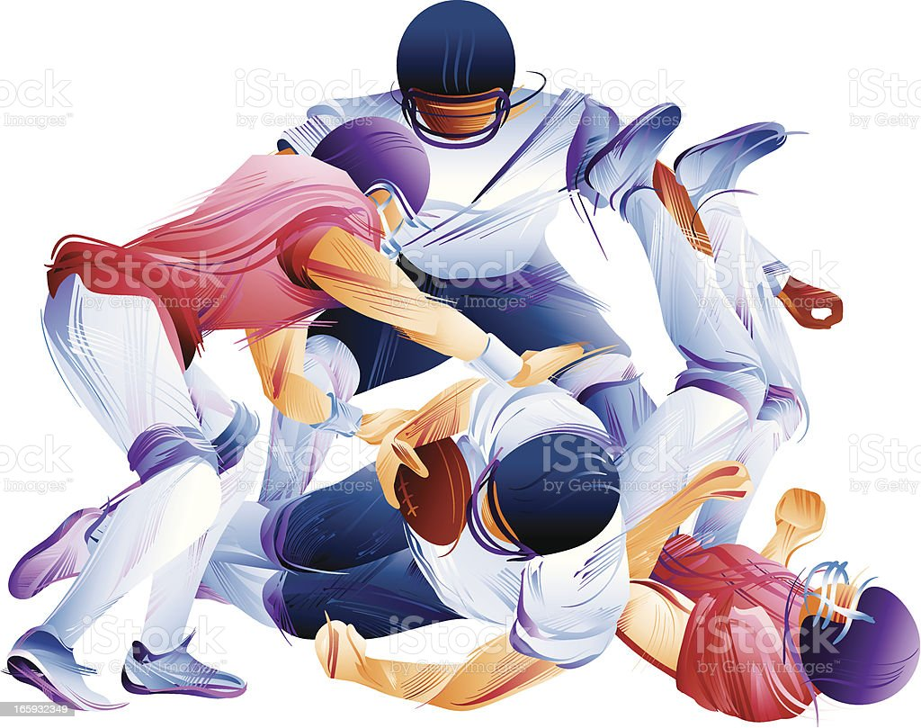 Football Action Abstract royalty-free stock vector art