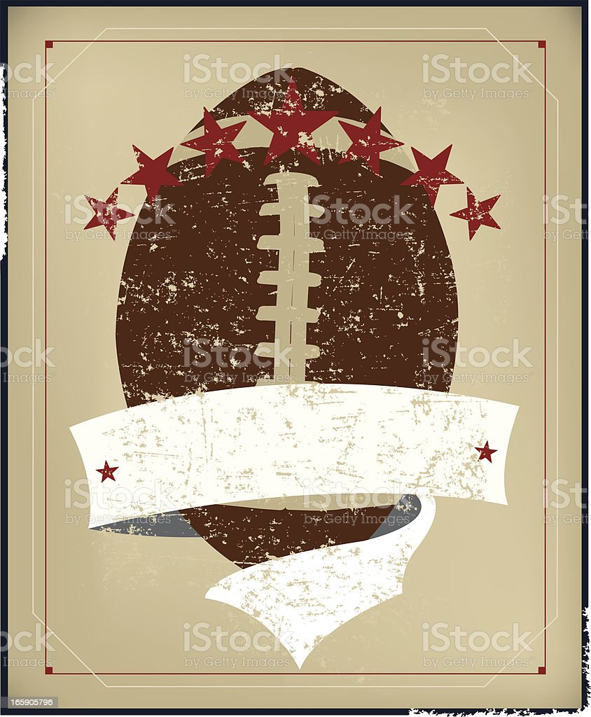 Football All-Star Background with Banner - Retro royalty-free stock vector art
