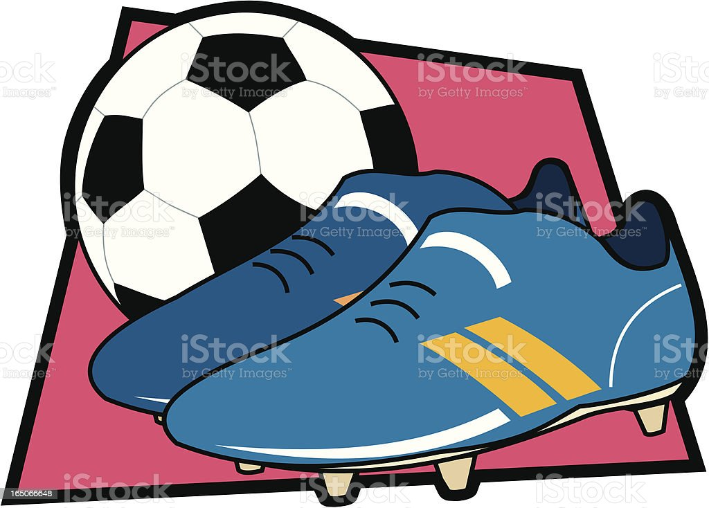 Football and Boots royalty-free stock vector art