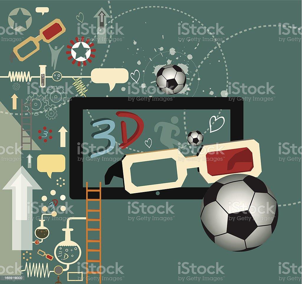 Football Arbitrary with 3D royalty-free stock vector art