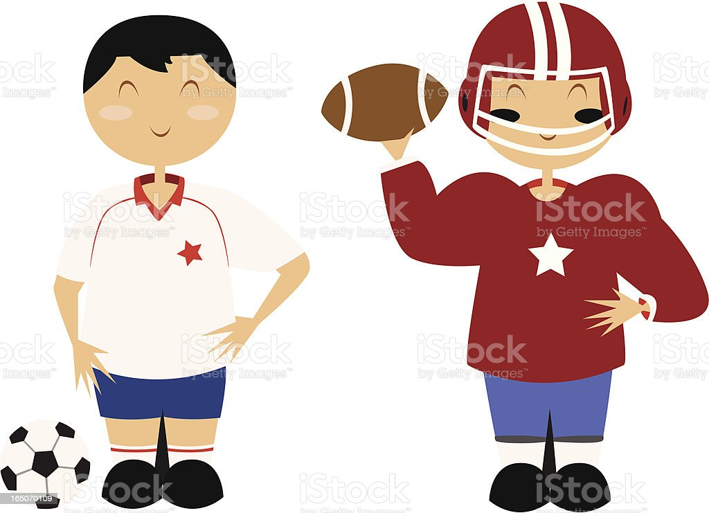 Football Athletes royalty-free stock vector art