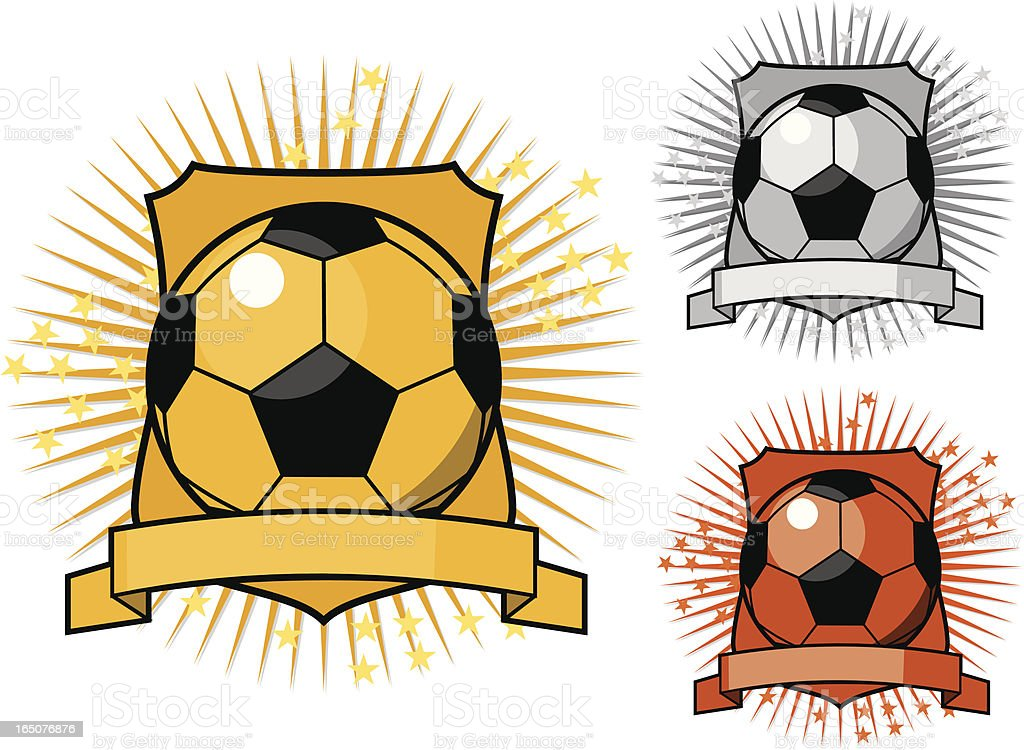 Football Awards royalty-free stock vector art