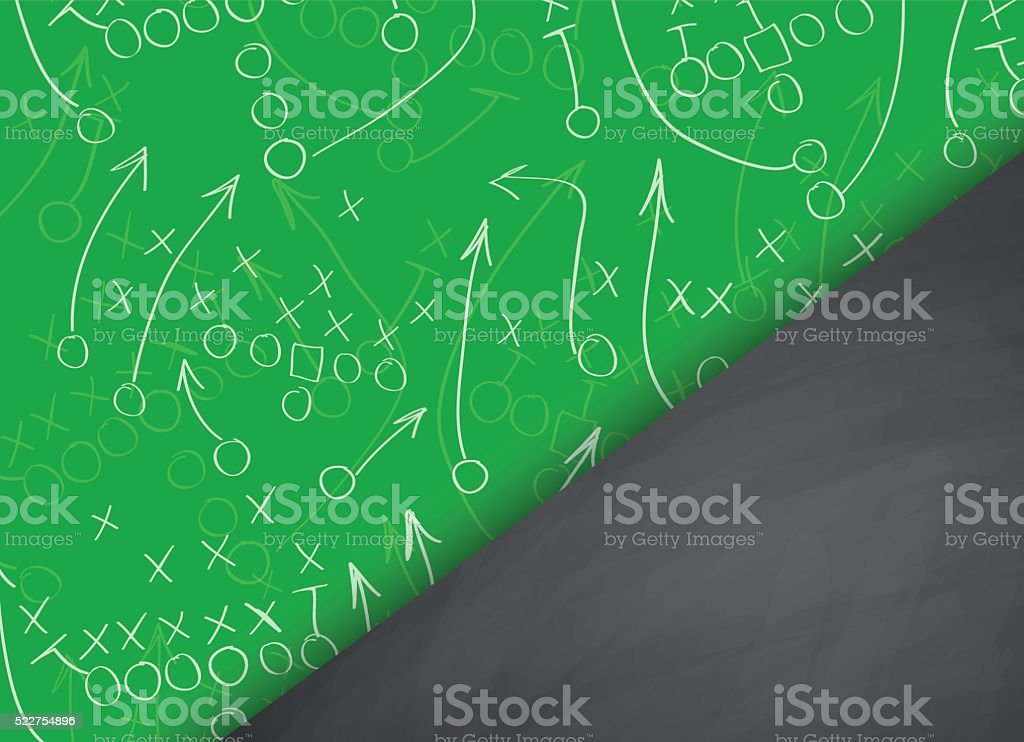 Football background vector art illustration