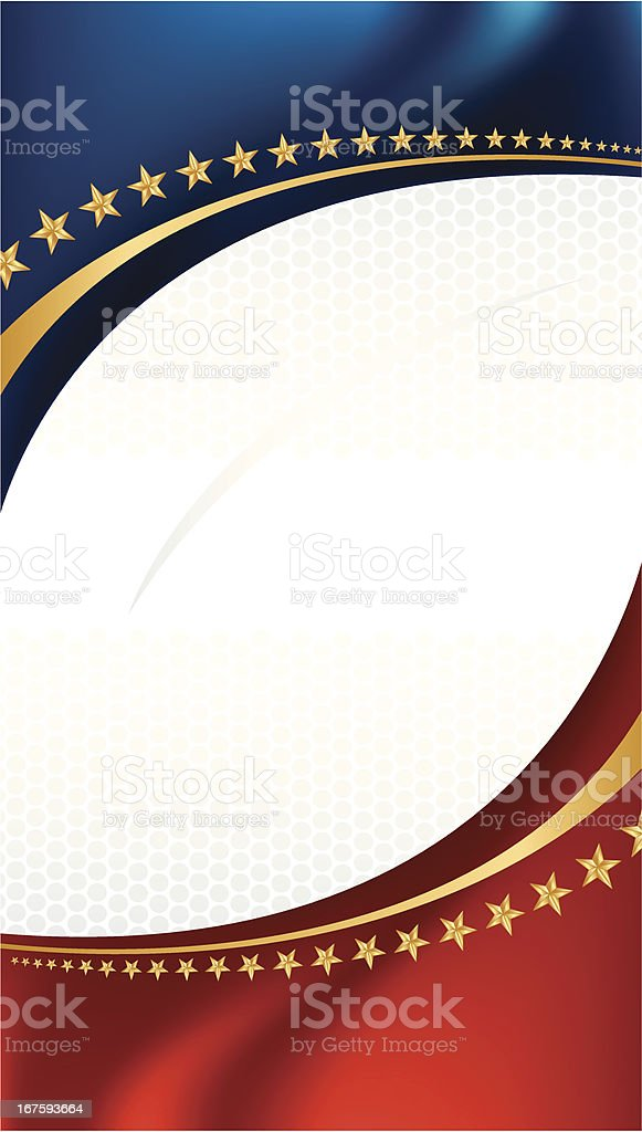 Football Background with Stars and Stripes royalty-free stock vector art